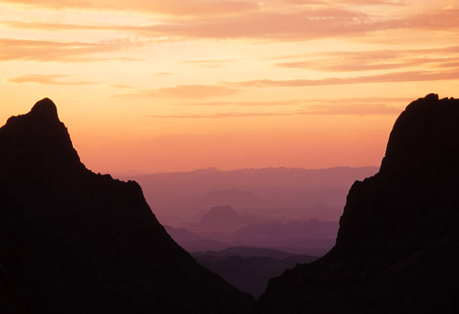 Sunset from the Window at Big Bend National Park