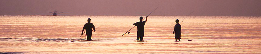 Fishing at sunrise, Corpus Christi