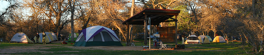 Camping area at Enchanted Rock. Image #9