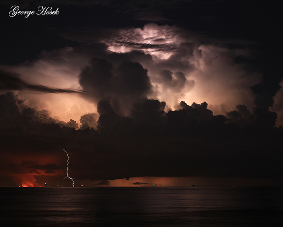 Lightning Galveston Texas