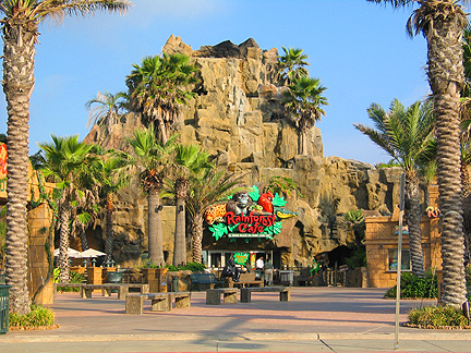 Rainforest cafe in Galveston