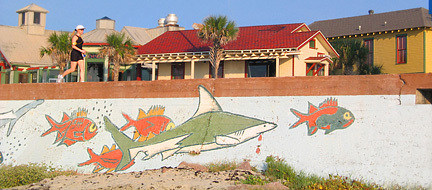 Mural Galveston Seawall. Copyright George Hosek