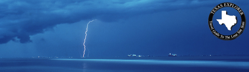 Lightning Galveston Ship Channel