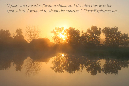 Image #6. Foggy morning reflected in a pond near Chappell Hill Texas .